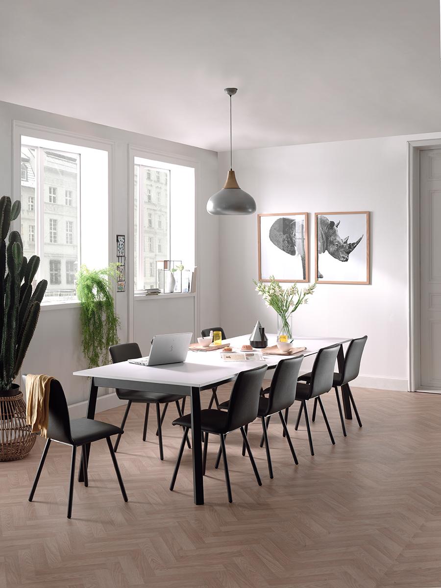 Verlengbare tafel victoria fenix white wit deba meubelen Woonkamer tafel