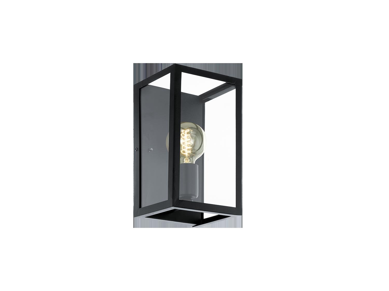wandlamp charterhouse kleur zwartglas zwart deba meubelen