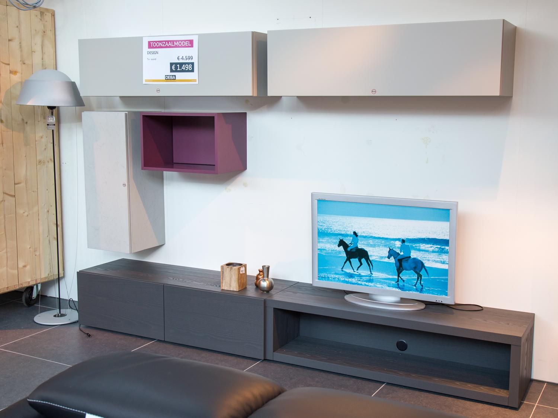 toonzaalmodel design tv wand grijs deba meubelen. Black Bedroom Furniture Sets. Home Design Ideas