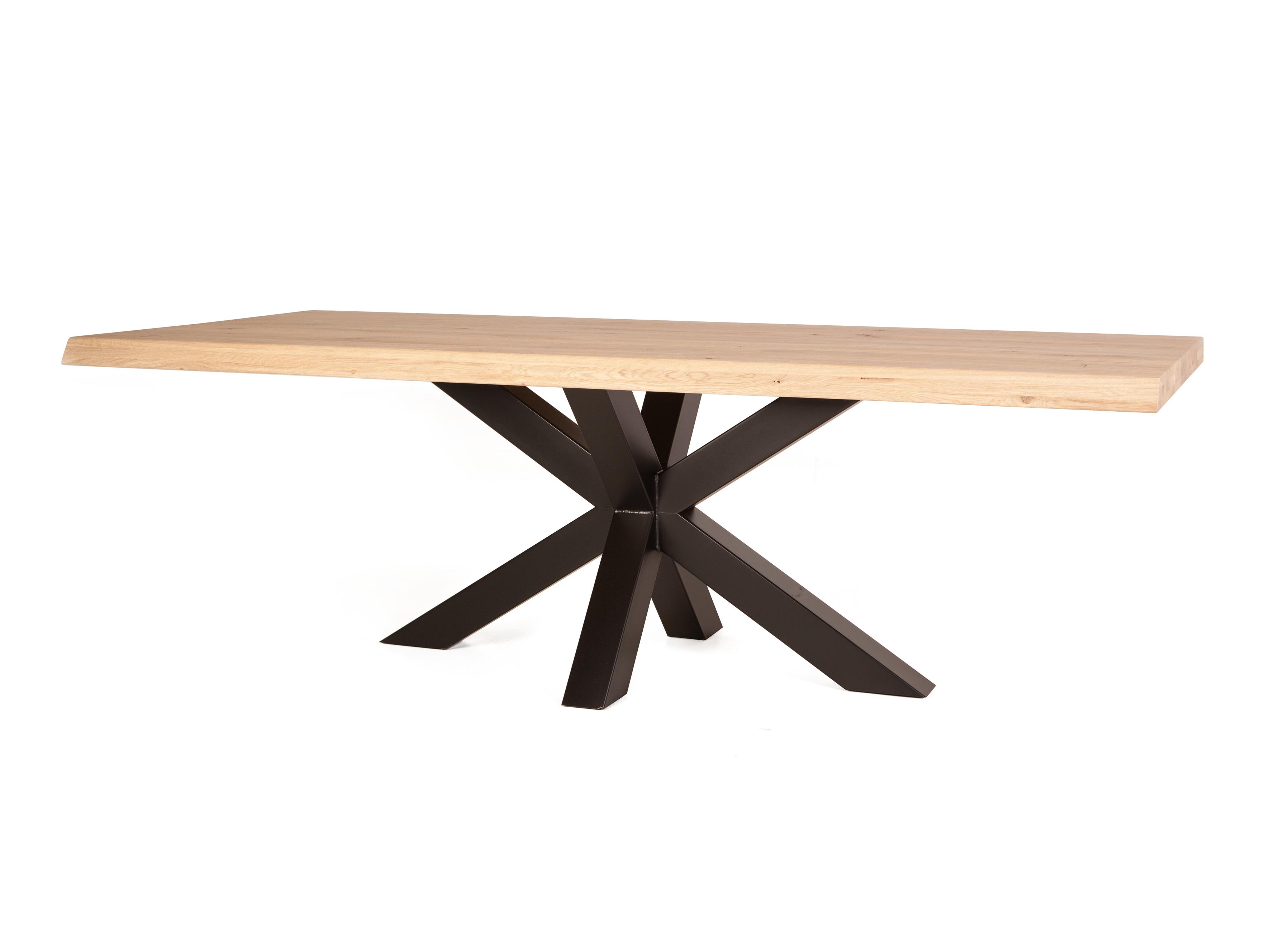 Eetkamertafel boomstam spinpoot mix & match hout deba meubelen
