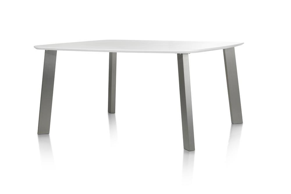 Eetkamertafel Vierkant Wit : Eetkamertafel cm mdf blad wit wit deba meubelen