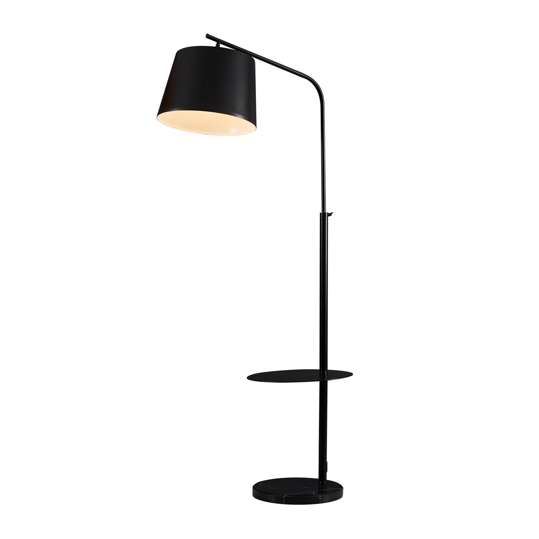 Lamp Met Tafeltje.Vloerlamp Met Tafeltje Zwart Deba Meubelen