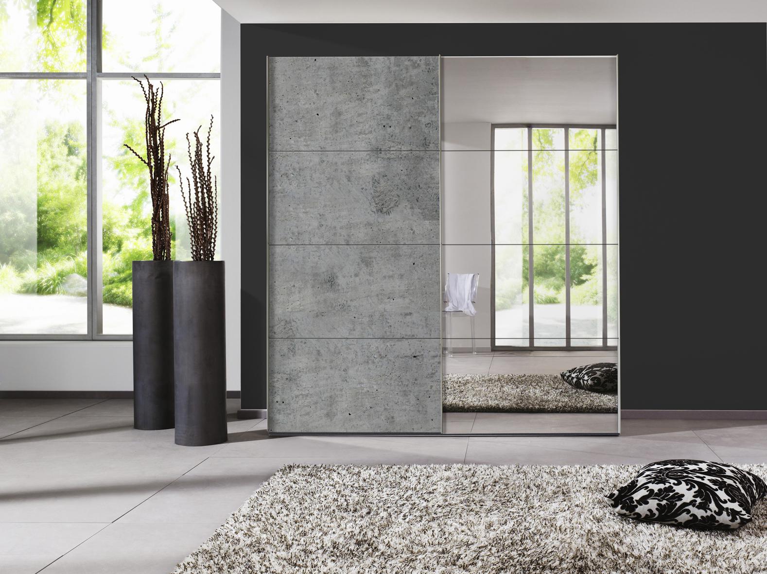 Scandinavisch Interieur Sydney : Schuifdeurkast sydney kleur korpus beton grijs deba meubelen