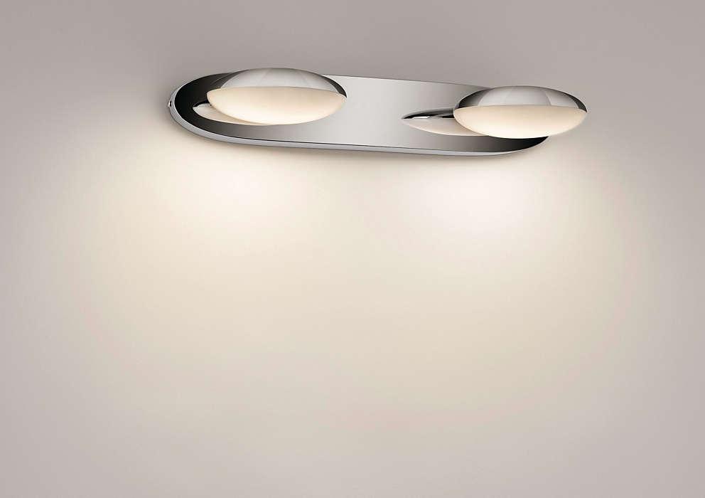 Tot einde voorraad: wandlamp badkamer chroom deba meubelen