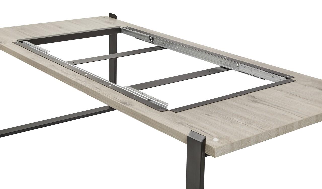 Uitschuifbare tafel belluno millenium oak light brown hout